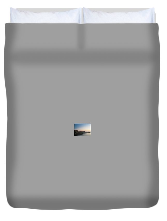 Sunset Duvet Cover featuring the digital art Sunset On Pacific Coast by Sterling Haidt
