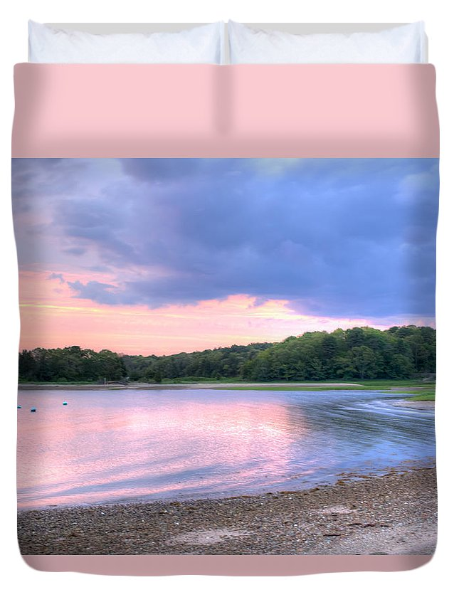Cape Cod Duvet Cover featuring the photograph Sunset Over Monk's Park by Leigh Grundy