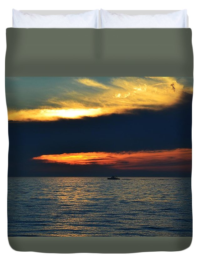 Sunset Duvet Cover featuring the photograph Herring Cove #14 by Marty Cowden