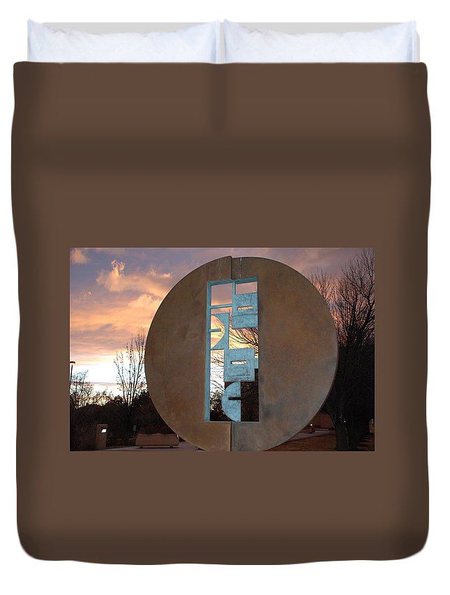 Pop Art Duvet Cover featuring the photograph Sunset Thru Art by Rob Hans