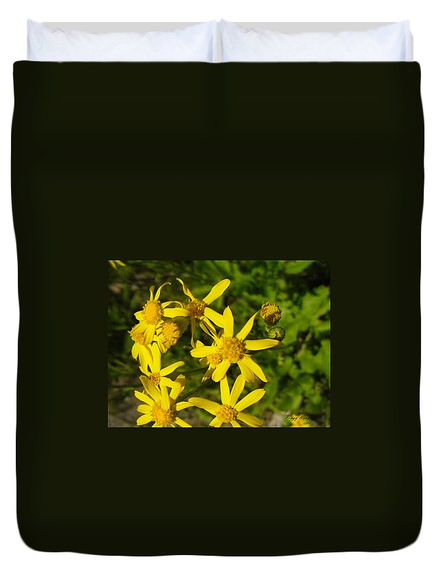 Nature Duvet Cover featuring the photograph Sunshine Along The Trail by Peggy King