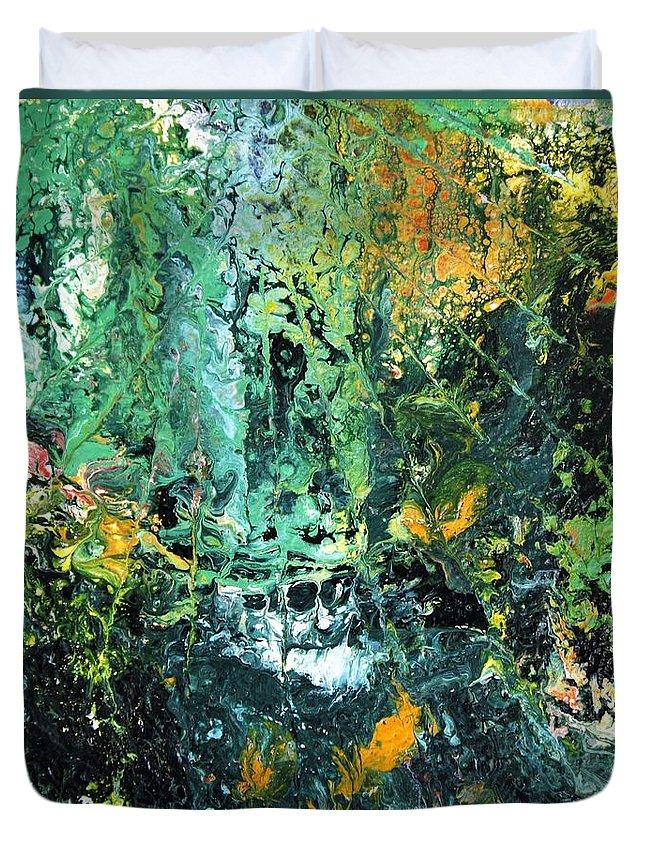 Australian Artist Duvet Cover featuring the painting Sunshine by Giro Tavitian