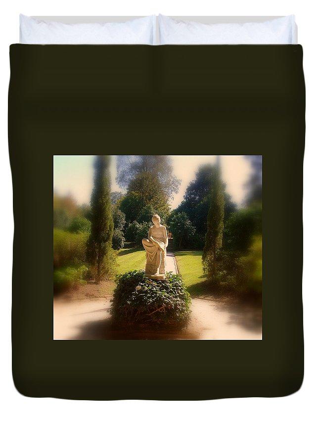 Park Duvet Cover featuring the photograph Sunshine Lady by Susanne Van Hulst