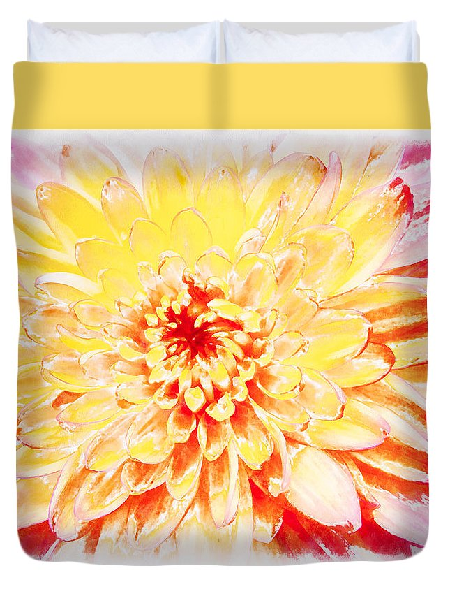 Paintography Duvet Cover featuring the photograph Sunshine by Sheryl Trunick