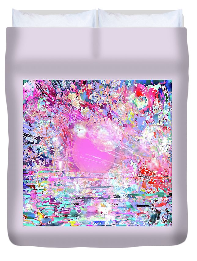 Sunset Duvet Cover featuring the digital art Sunshine by Ted Packman