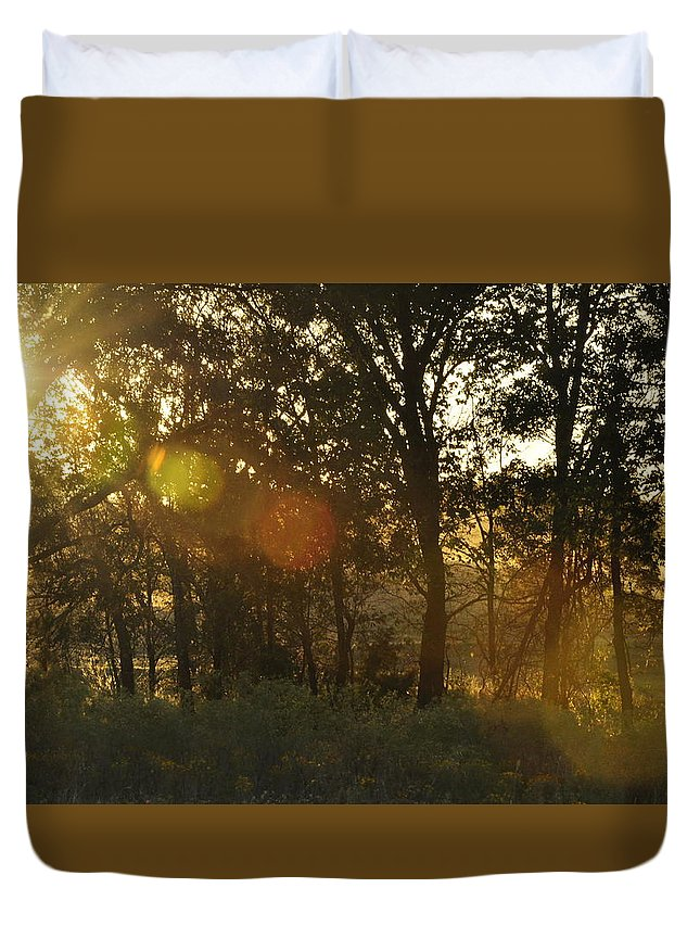 Sunspots Duvet Cover featuring the photograph Sunspots by Diana Cannon