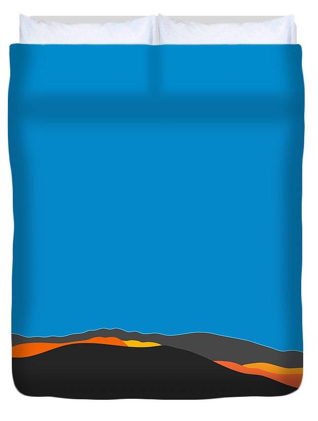 Palm Springs Duvet Cover featuring the digital art Sunst Range San Jacintos by Stan Magnan