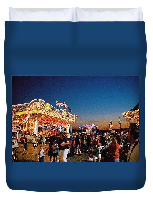 Board Walk Duvet Cover featuring the photograph Super Himalaya by Steve Karol