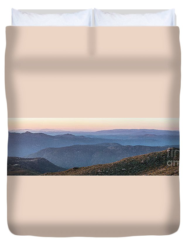 San Diego Duvet Cover featuring the photograph #superbloom Sunset by Ben Cipollini