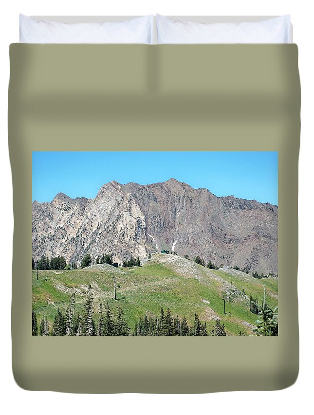 Landscape Duvet Cover featuring the photograph Superior by Michael Cuozzo