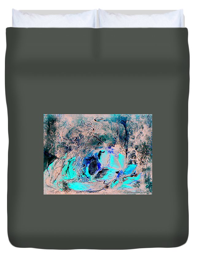 Food Collage Texture Red Duvet Cover featuring the mixed media Supper Is Ready by Veronica Jackson