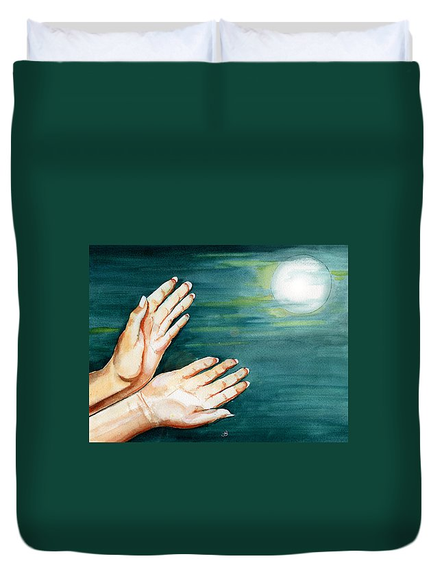 Watercolor Duvet Cover featuring the painting Supplication by Brenda Owen