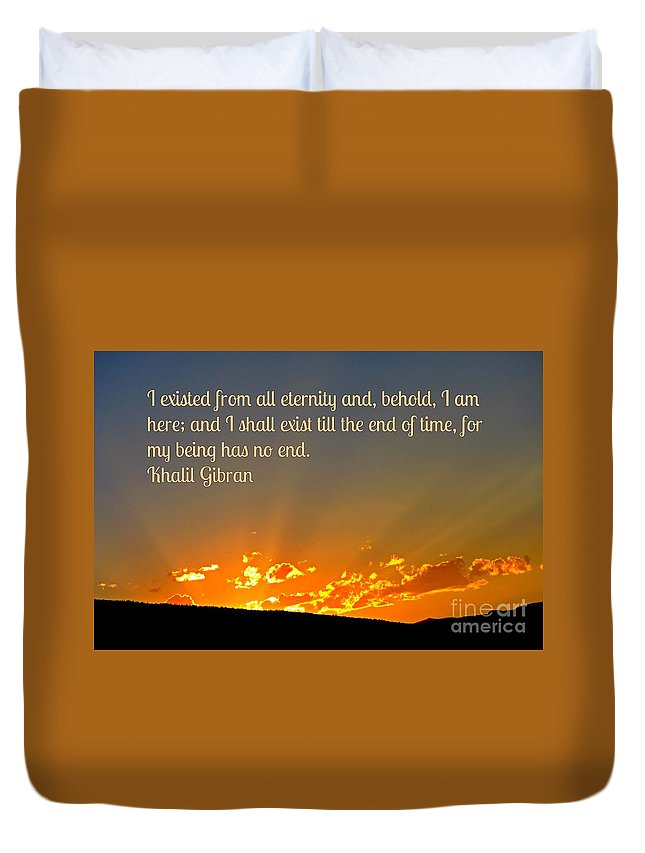 Supreme Being Duvet Cover featuring the photograph Supreme Being by John Malone