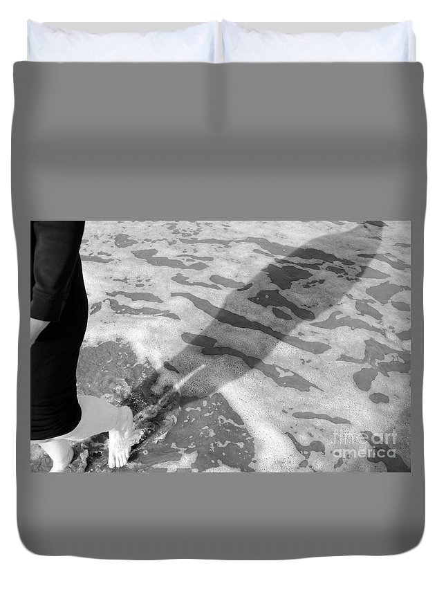Shadow Duvet Cover featuring the photograph Surf Shadows by Craig McCausland