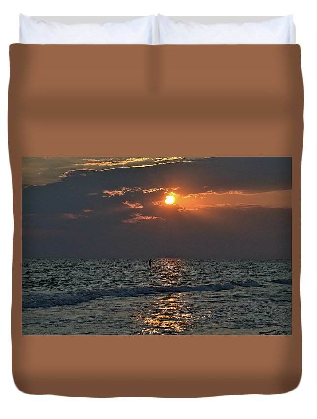 Duvet Cover featuring the photograph Surfer2 by Winston Hudson