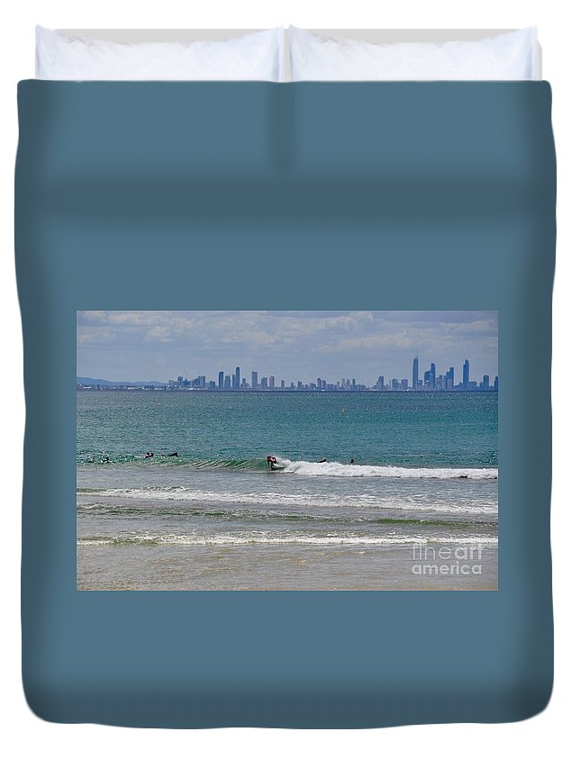 Gold Coast Duvet Cover featuring the photograph Surfers Paradise by Csilla Florida