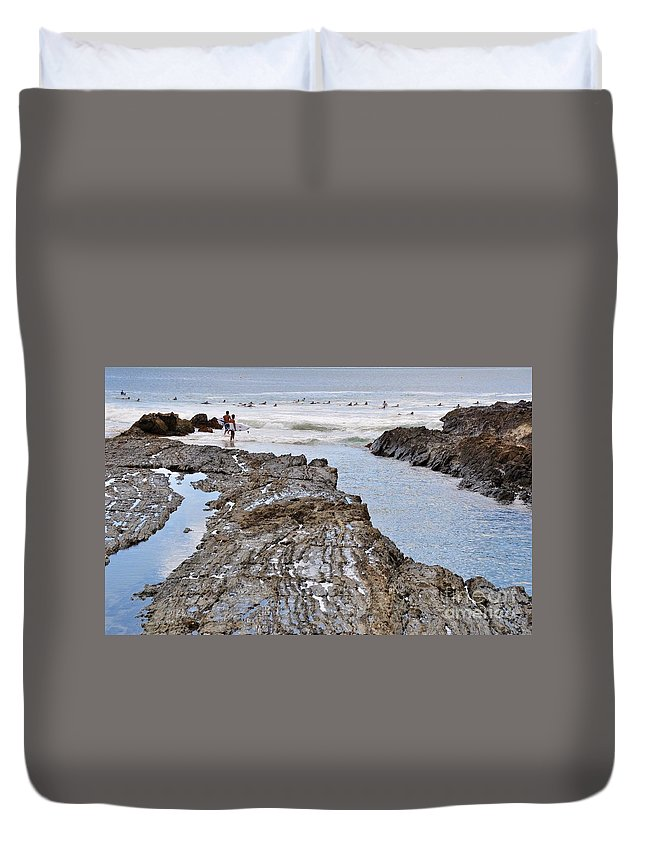 Gold Coast Duvet Cover featuring the photograph Surfers Waterways by Csilla Florida