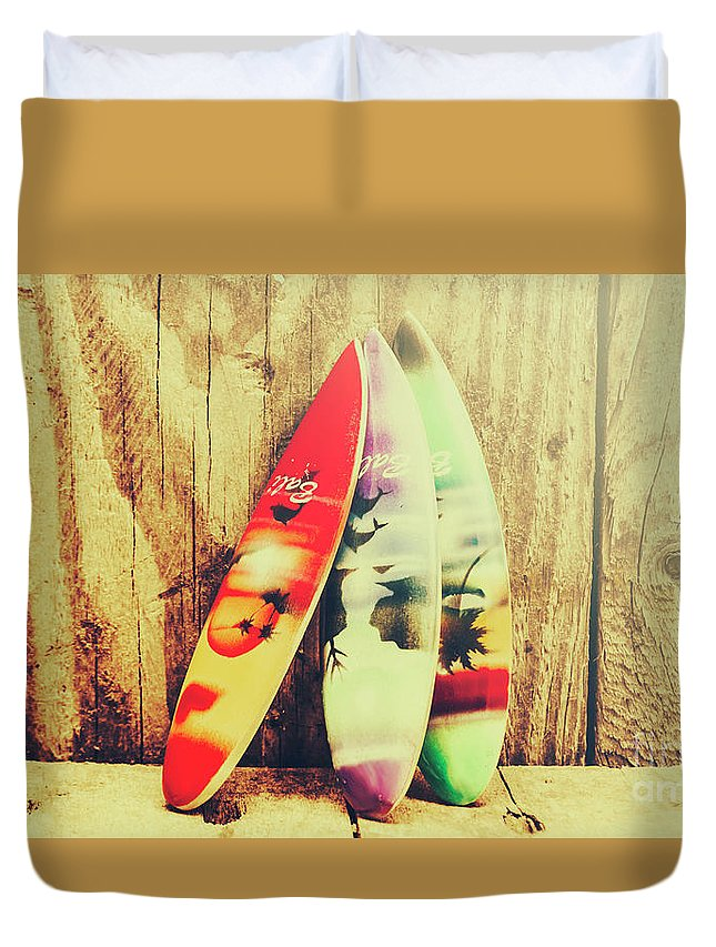 Bali Duvet Cover featuring the photograph Surfing Still Life Artwork by Jorgo Photography - Wall Art Gallery