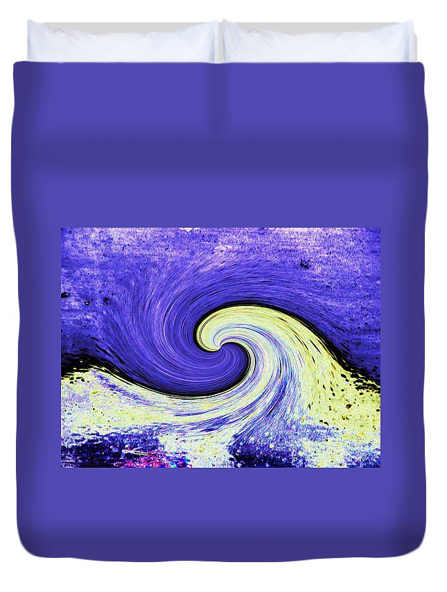 Surfs Up Duvet Cover featuring the photograph Surfs Up 3 by Tim Allen