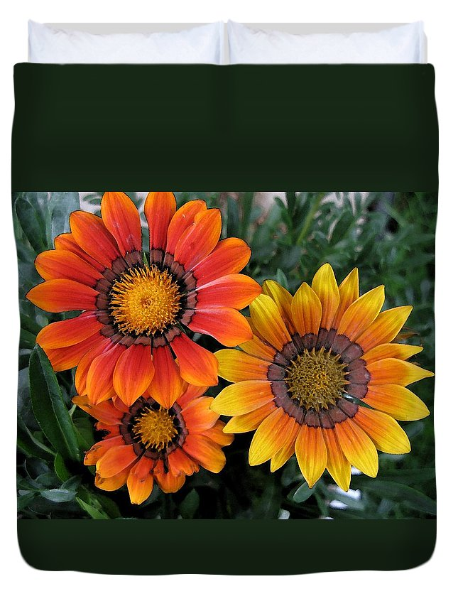 Flowers Duvet Cover featuring the photograph Surprise by Carol Sweetwood