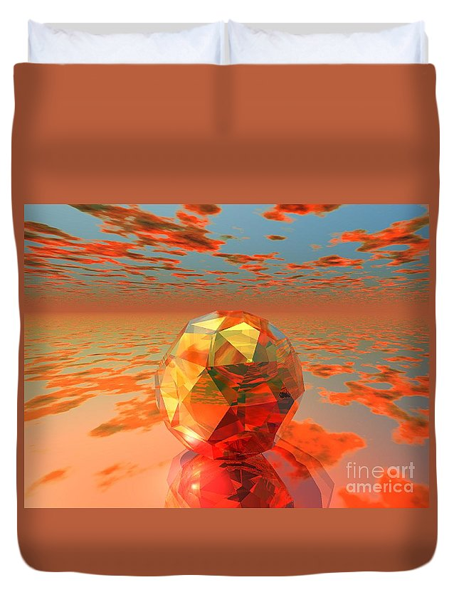 Surreal Duvet Cover featuring the digital art Surreal Dawn by Oscar Basurto Carbonell