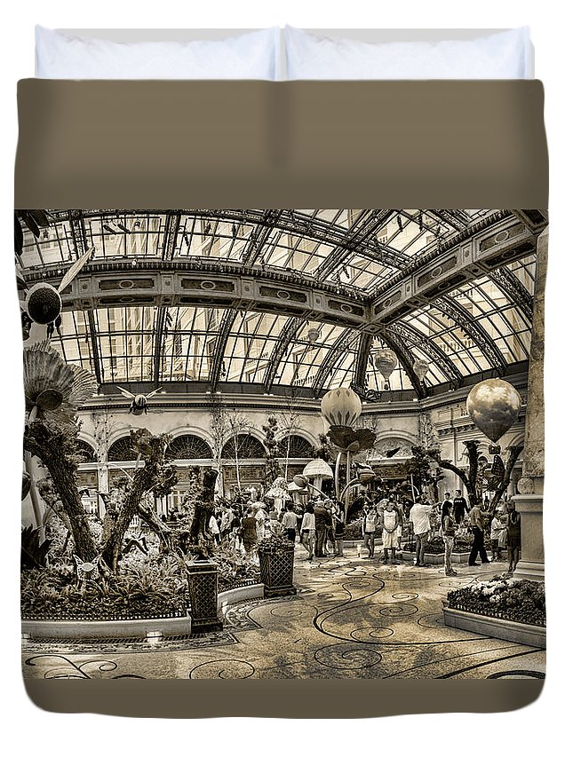 Floral Duvet Cover featuring the photograph Surreal Gardens by Ricky Barnard