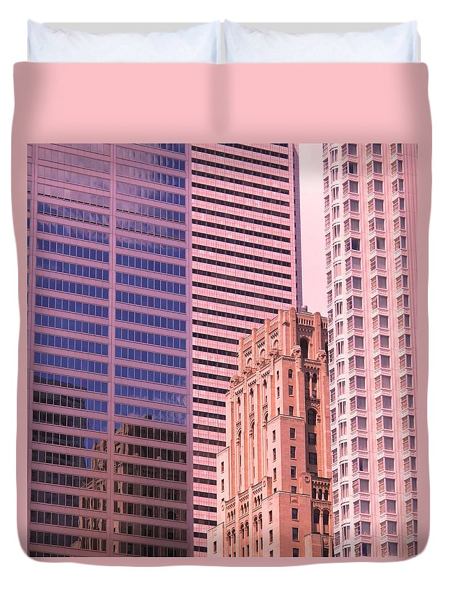 Office Buildings Duvet Cover featuring the photograph Surrounded by Ian MacDonald