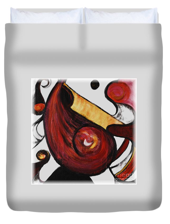 Survivor Duvet Cover featuring the painting Survivor by Nadine Rippelmeyer