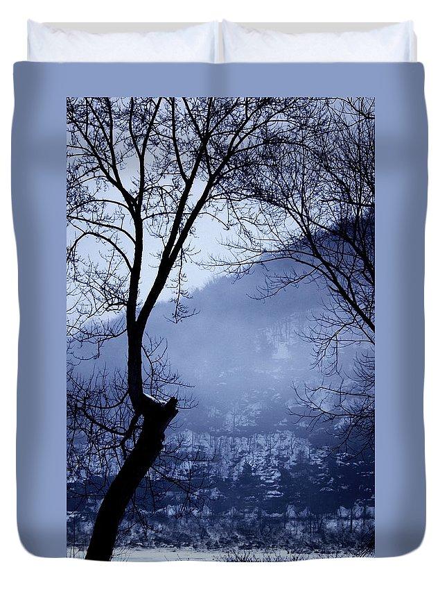 Falls Pennsylvania Duvet Cover featuring the photograph Susquehanna Dreamin... by Arthur Miller