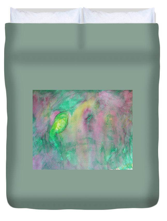 Abstract Duvet Cover featuring the painting Sweet Angels Everywhere by Judith Redman