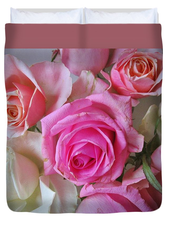Roses Duvet Cover featuring the photograph Sweet Delight by Rosita Larsson