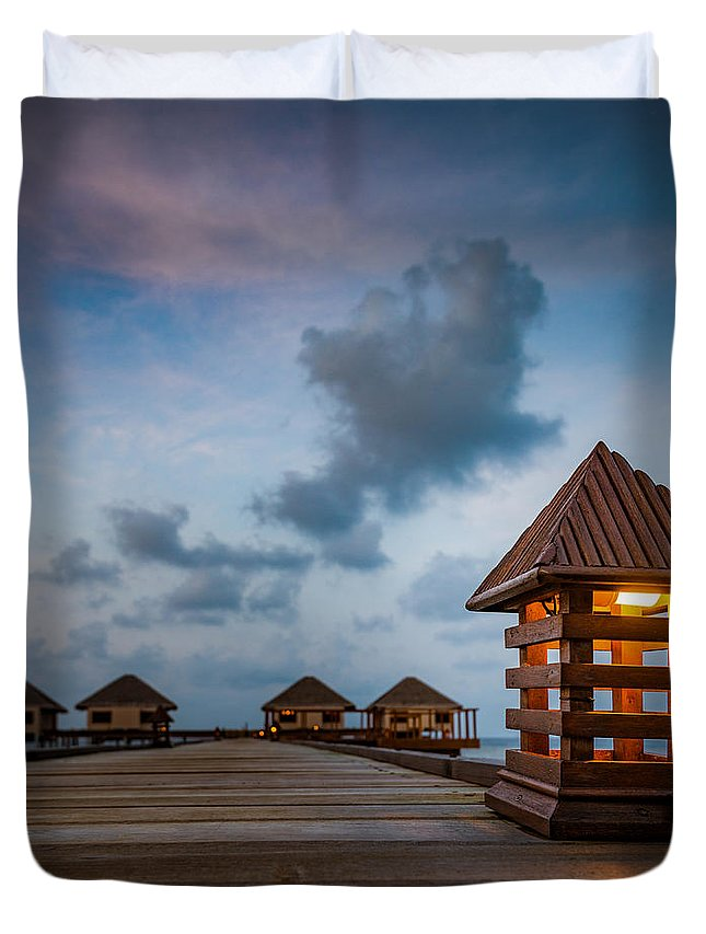 1x1 Duvet Cover featuring the photograph Sweet Homes by Hannes Cmarits