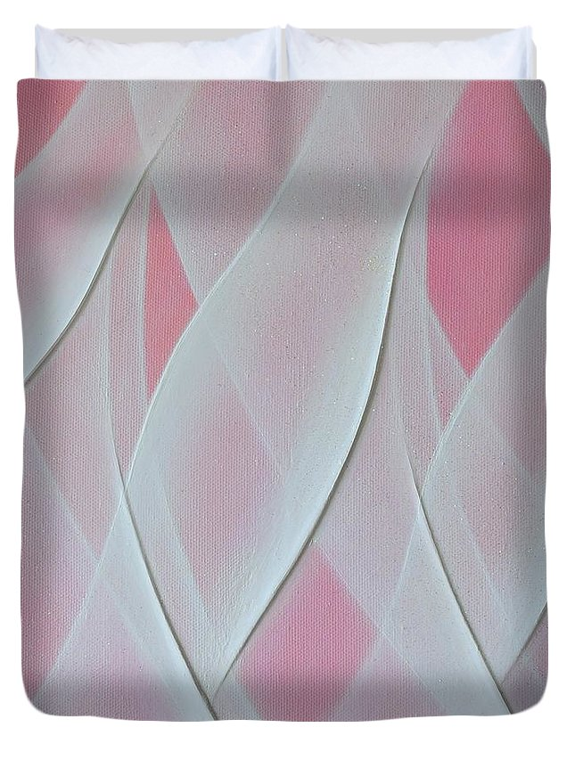 Light Duvet Cover featuring the painting Crystal Sweet 2 by Kumiko Mayer