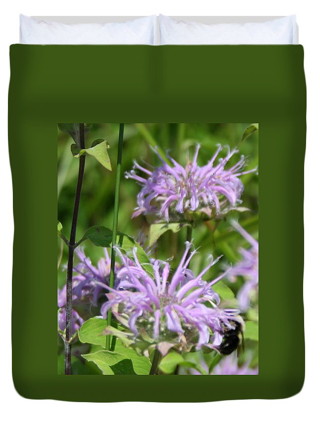 Flora Duvet Cover featuring the digital art Sweet Nectar by Rebecca Smith