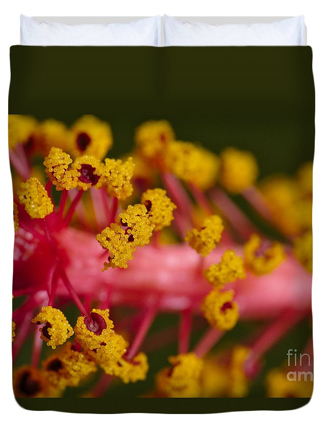 Flower Duvet Cover featuring the photograph Sweet Pollen by Angelo DeVal