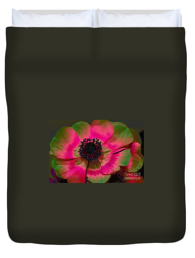 Poppy Duvet Cover featuring the photograph Sweet Poppy Seed by Donna Bentley