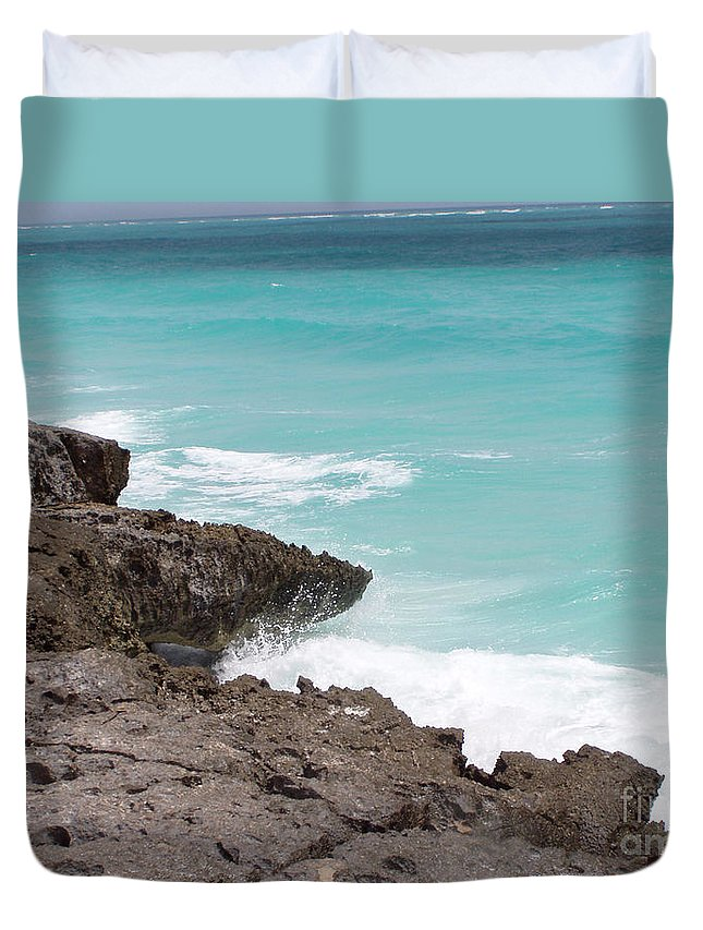 Water Duvet Cover featuring the photograph Sweet Saltyness by Amanda Barcon