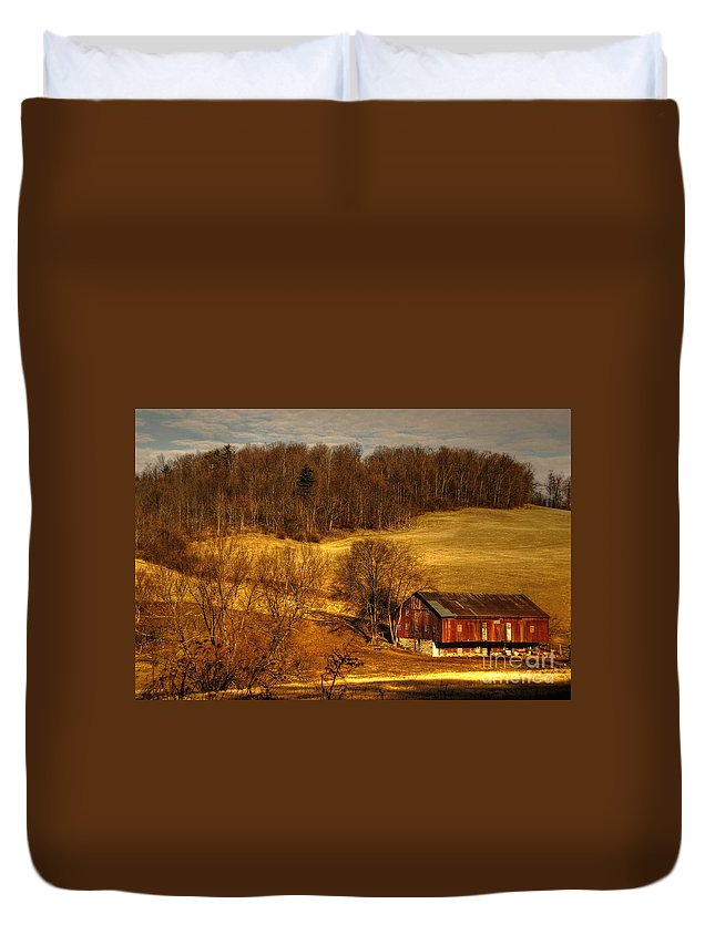 Barn Duvet Cover featuring the photograph Sweet Sweet Surrender by Lois Bryan