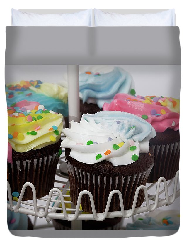 Chocolate Duvet Cover featuring the photograph Sweet Treats by Diane Macdonald