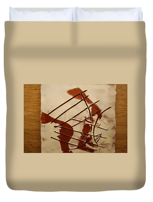 Jesus Duvet Cover featuring the ceramic art Sweethearts 5 - Tile by Gloria Ssali