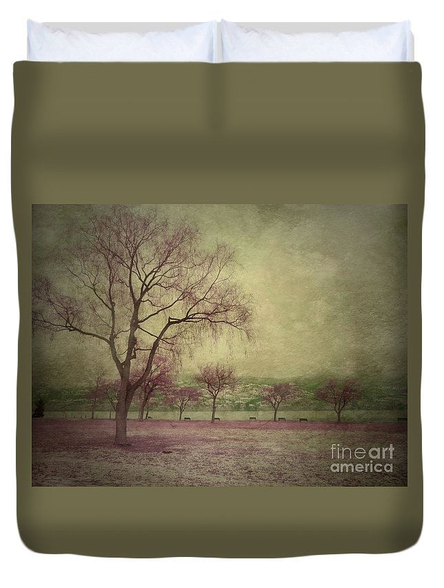 Trees Duvet Cover featuring the photograph Sweetly by Tara Turner