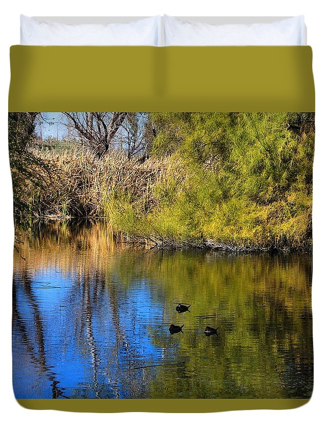 Nature Preserve Duvet Cover featuring the photograph Sweetwater 8 by Kathryn Meyer