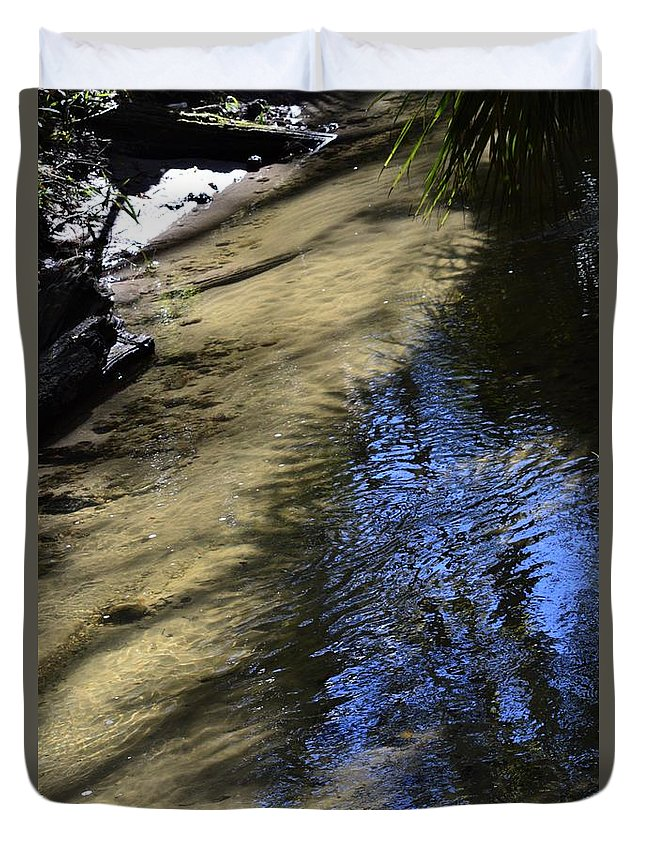 Sweetwater Creek Duvet Cover featuring the photograph Sweetwater Creek by Warren Thompson