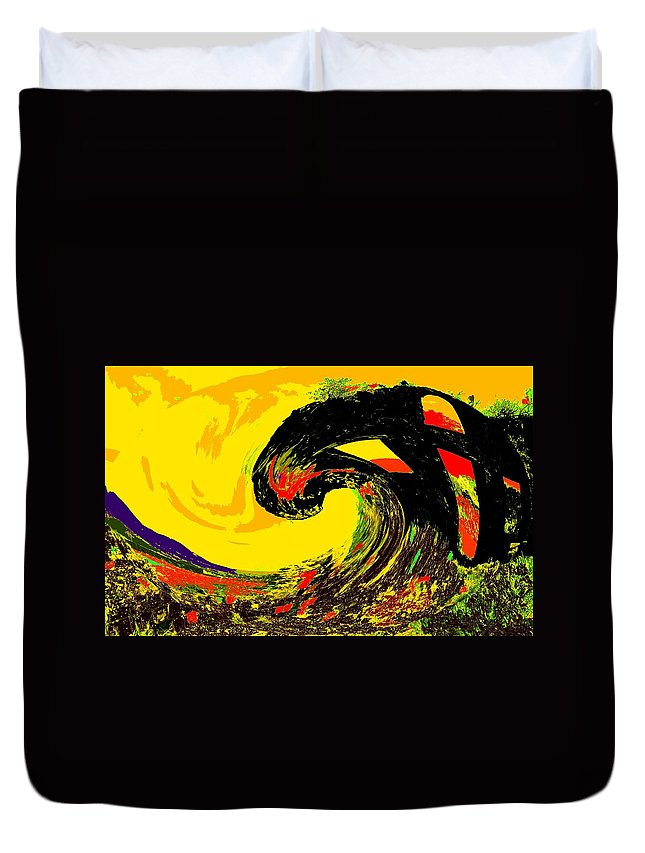 Abstract Duvet Cover featuring the photograph Swept Away by Ian MacDonald