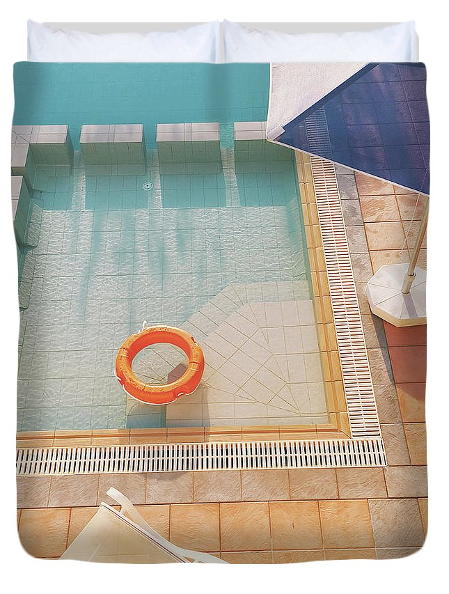 Water Duvet Cover featuring the photograph Swimming Pool by Cassia Beck