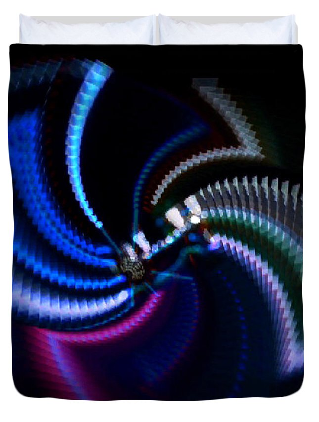 Chaos Duvet Cover featuring the photograph Swirlerator by Charles Stuart