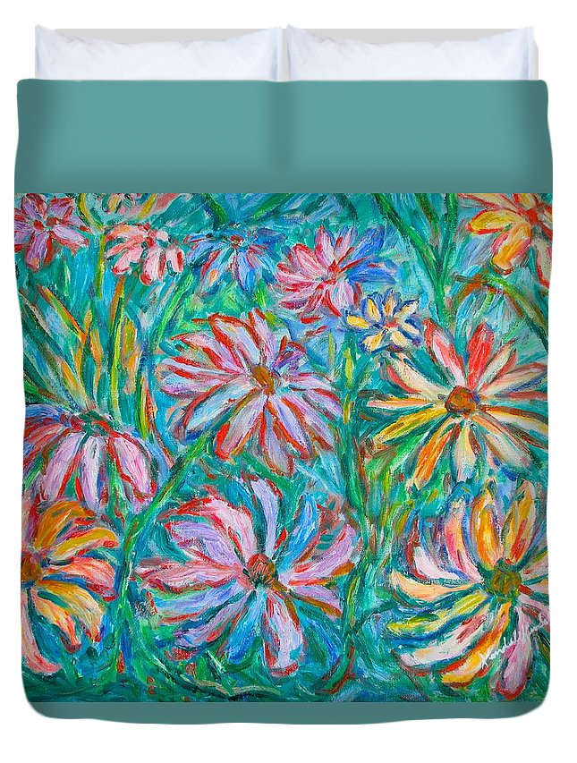 Impressionist Duvet Cover featuring the painting Swirling Color by Kendall Kessler