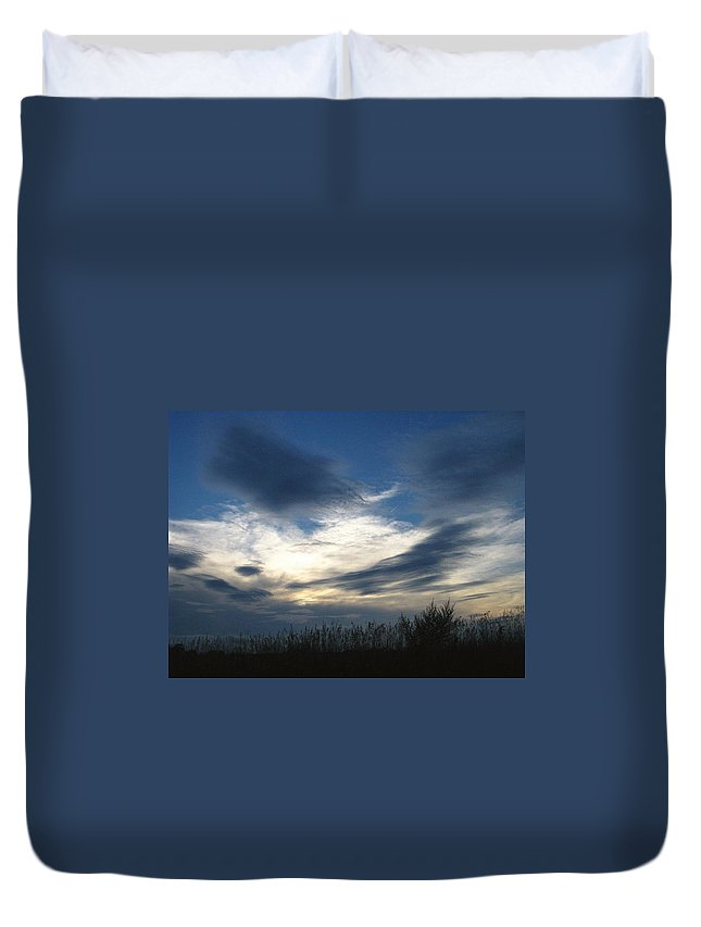 Sky Duvet Cover featuring the photograph Swirling Skies by Rhonda Barrett