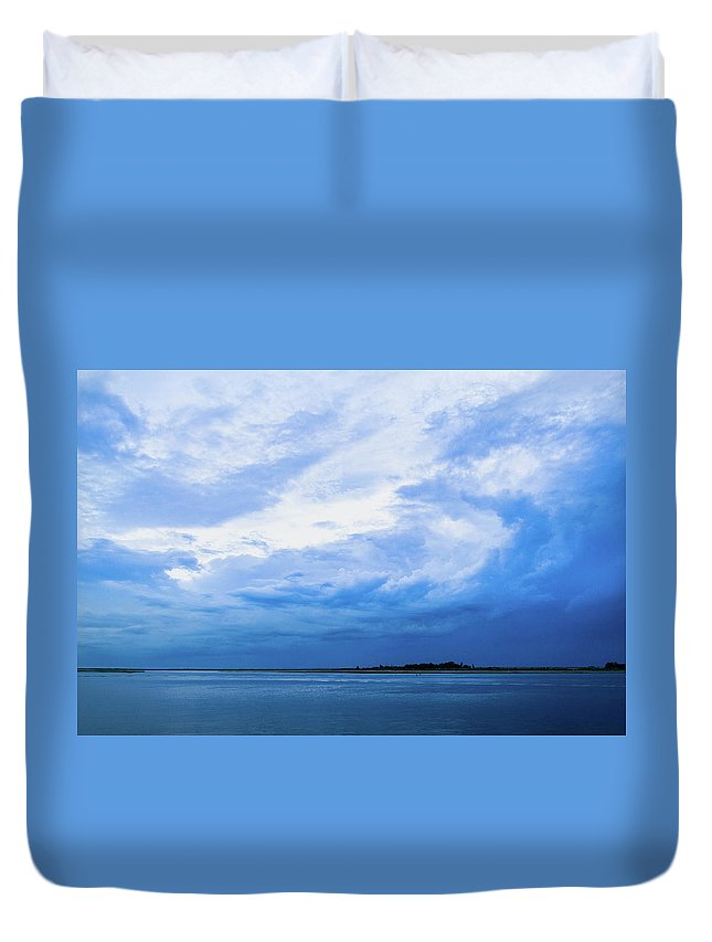 Landscape Duvet Cover featuring the photograph Swirling Sky by Adam Pawlak
