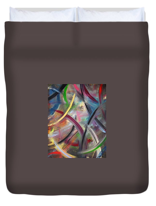 Acrylic Duvet Cover featuring the painting Swish by Todd Hoover